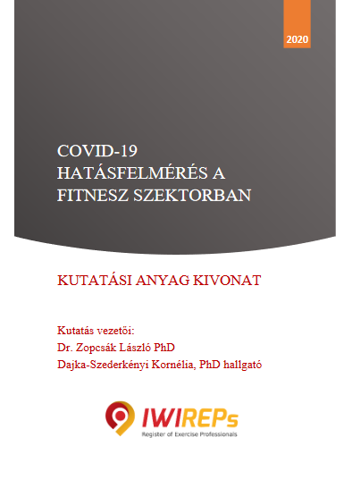 COVID-19 hatásfelmérés a fitnesz szektorban
